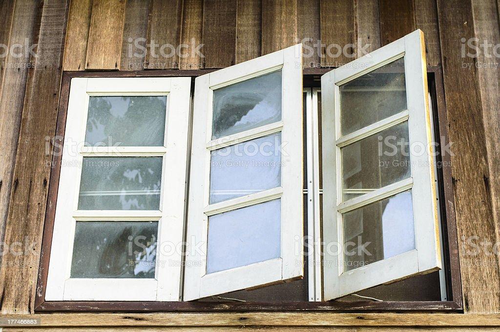 Three white windows royalty-free stock photo