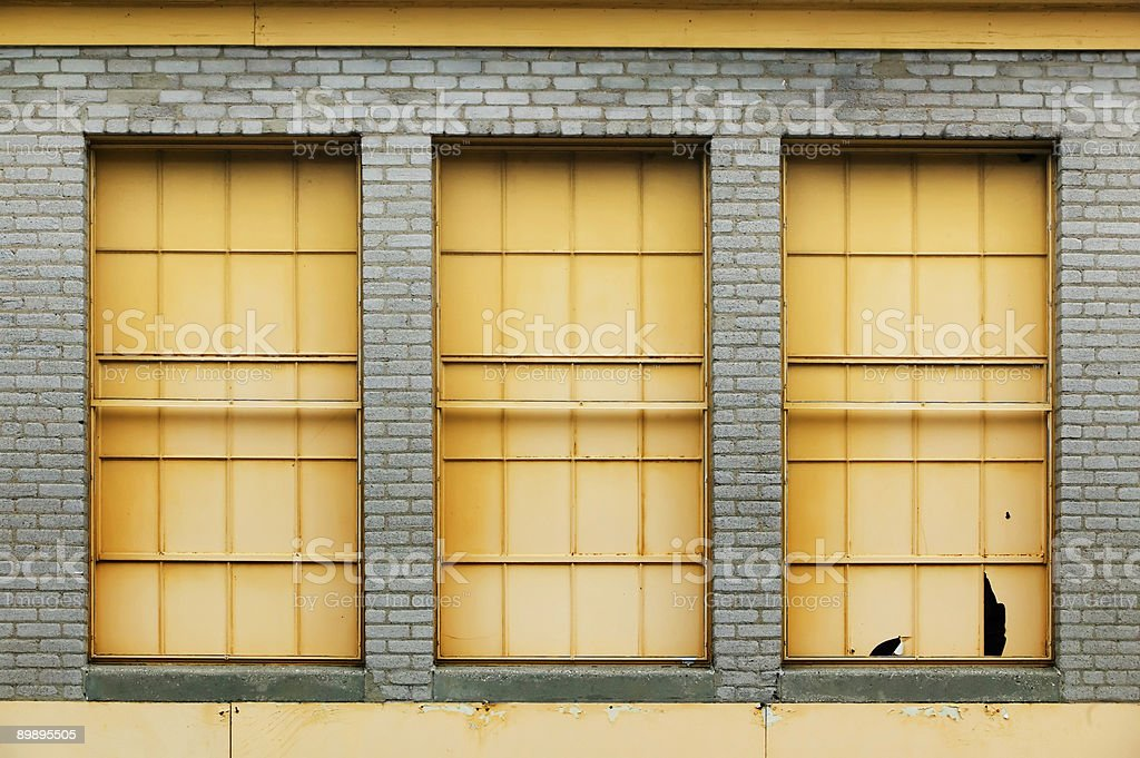Three Windows royalty-free stock photo