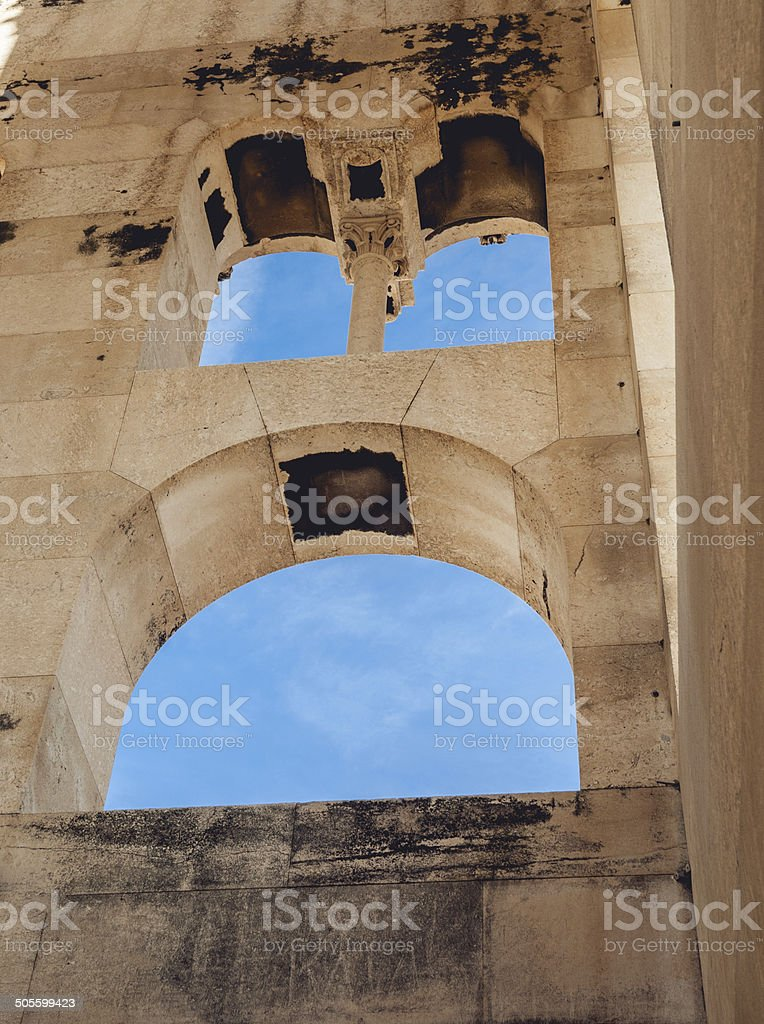 Three windows smiles stock photo