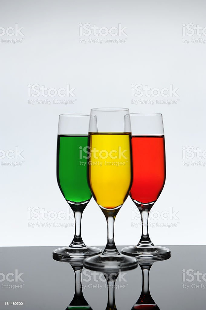 three wine glass royalty-free stock photo