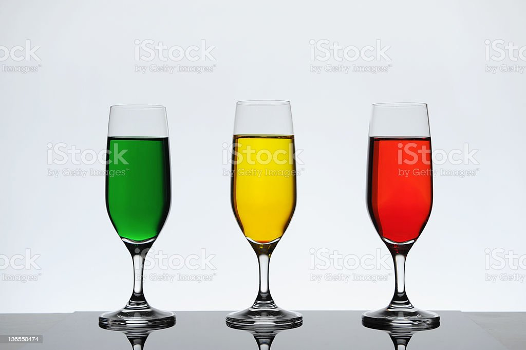 three wine glass royalty-free stock photo