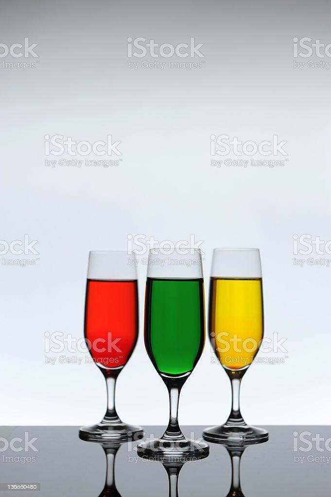 three wine glass stock photo