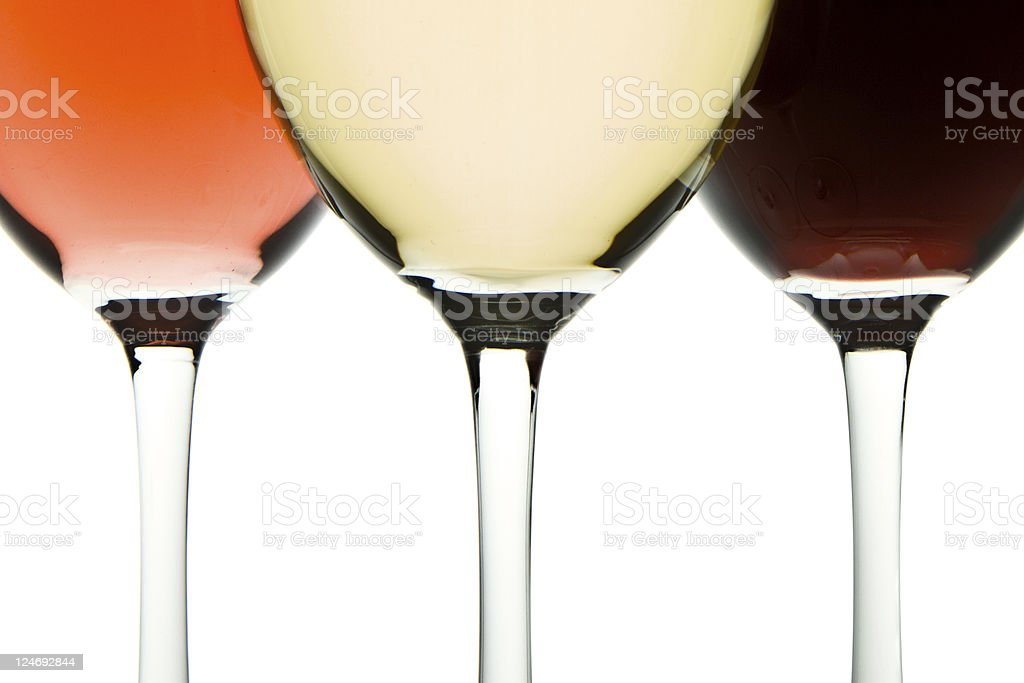 three wine glasses royalty-free stock photo
