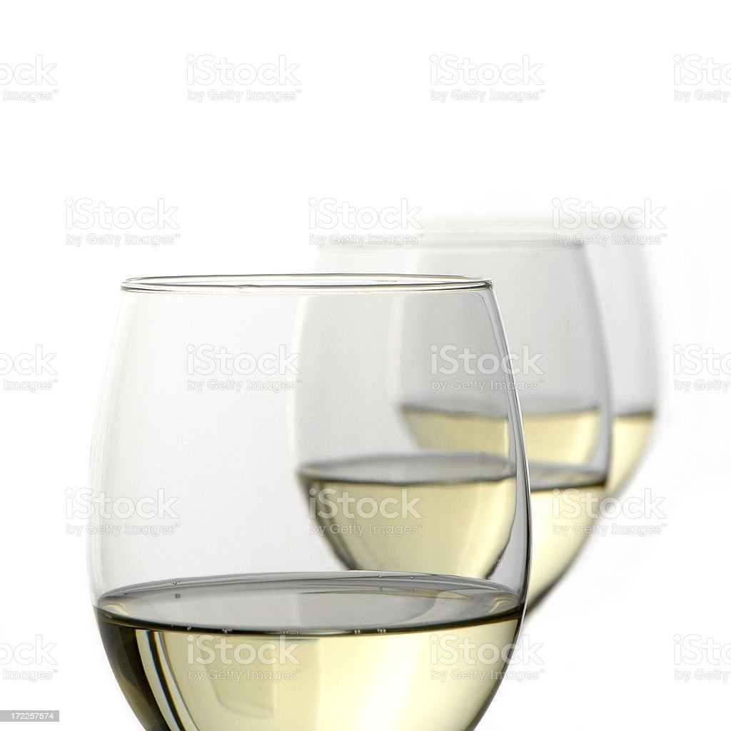 Three wine glasses royalty-free stock photo