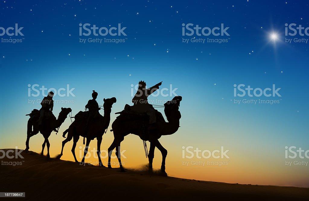 Three Wise Men royalty-free stock photo