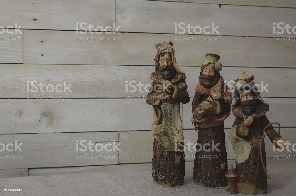 three wise men still life stock photo