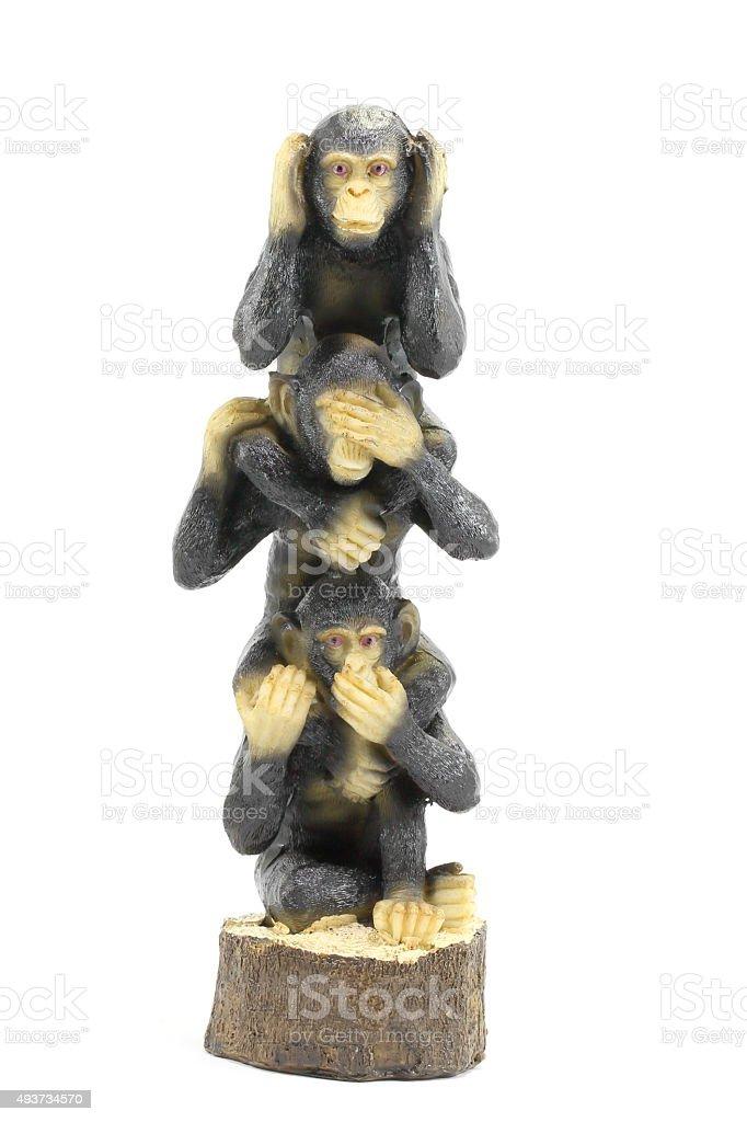 Three wise monkey stock photo