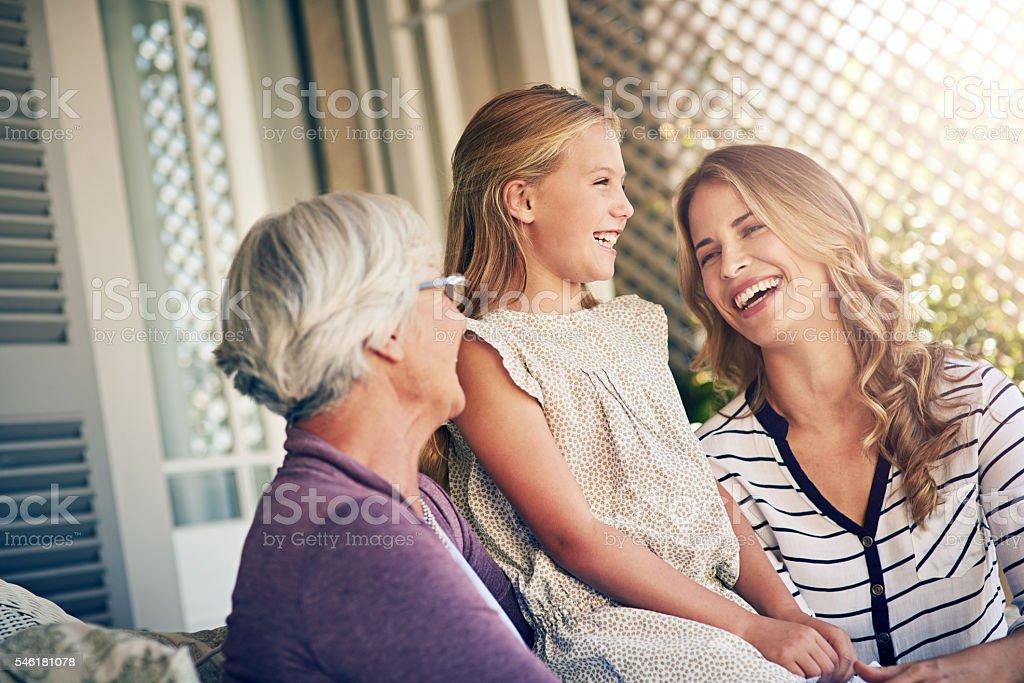 Three women. One family stock photo