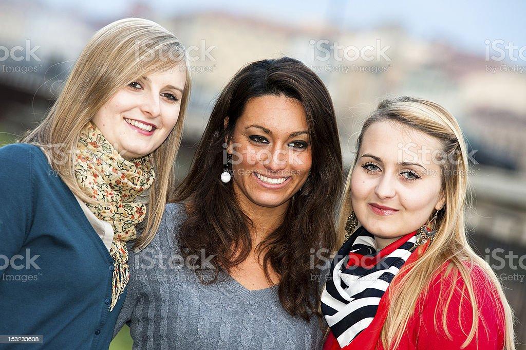 Three Women  Outdoor royalty-free stock photo