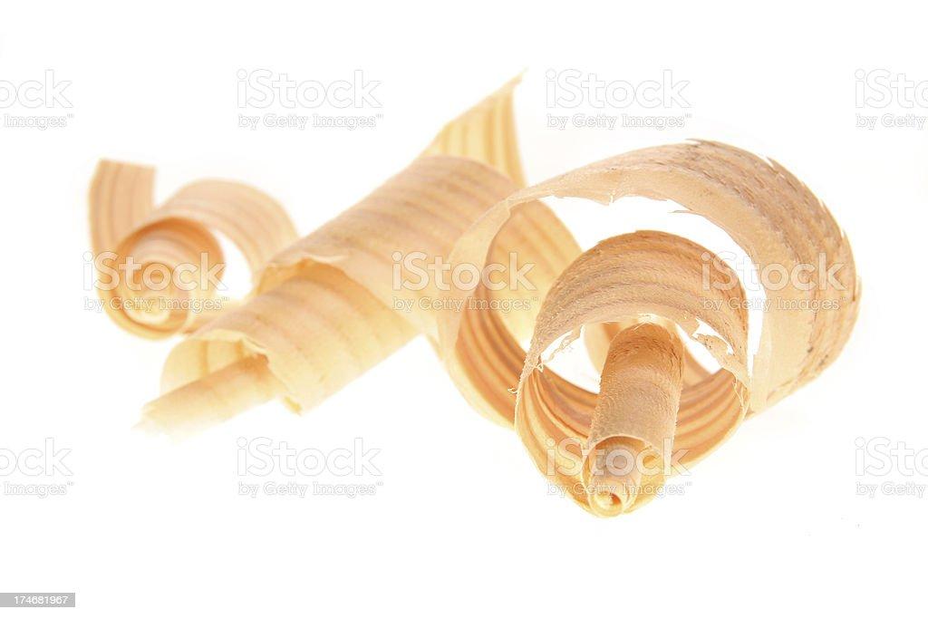 three wood shavings royalty-free stock photo