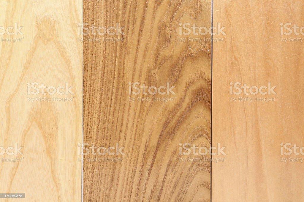 Three wooden plank close-up royalty-free stock photo