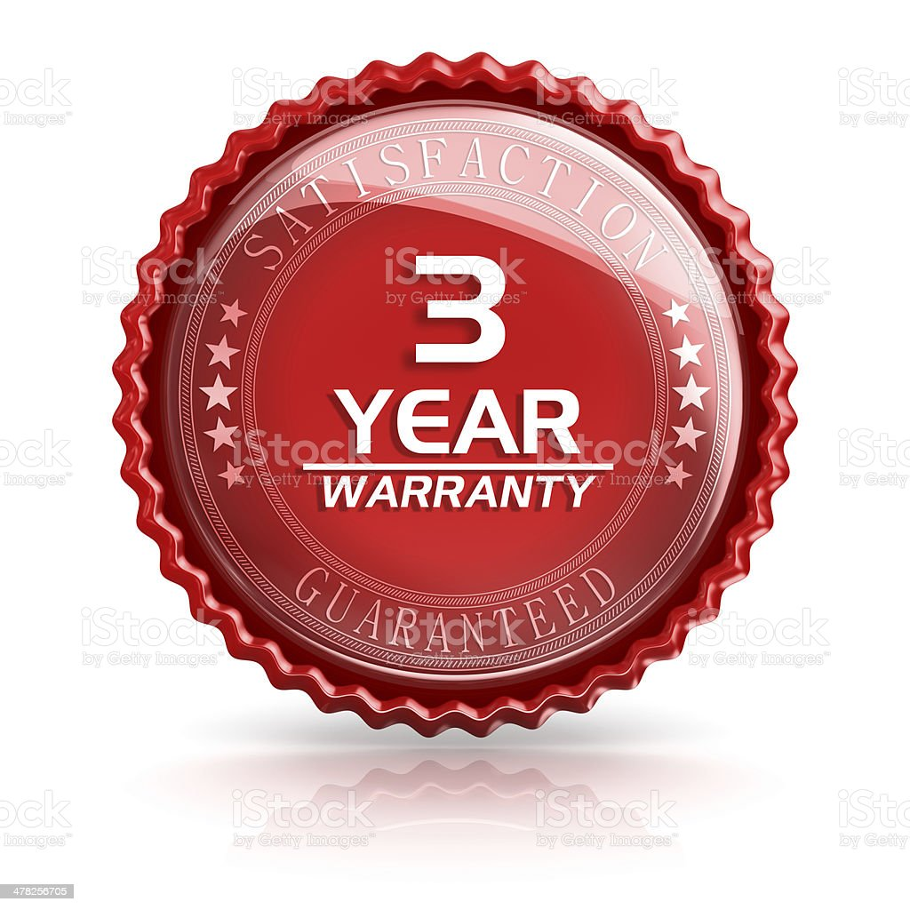 Three Year Warranty royalty-free stock photo