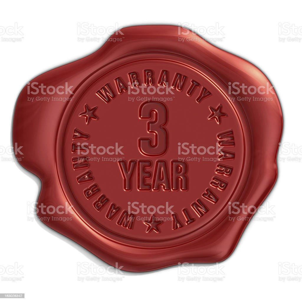 three year warranty seal royalty-free stock photo