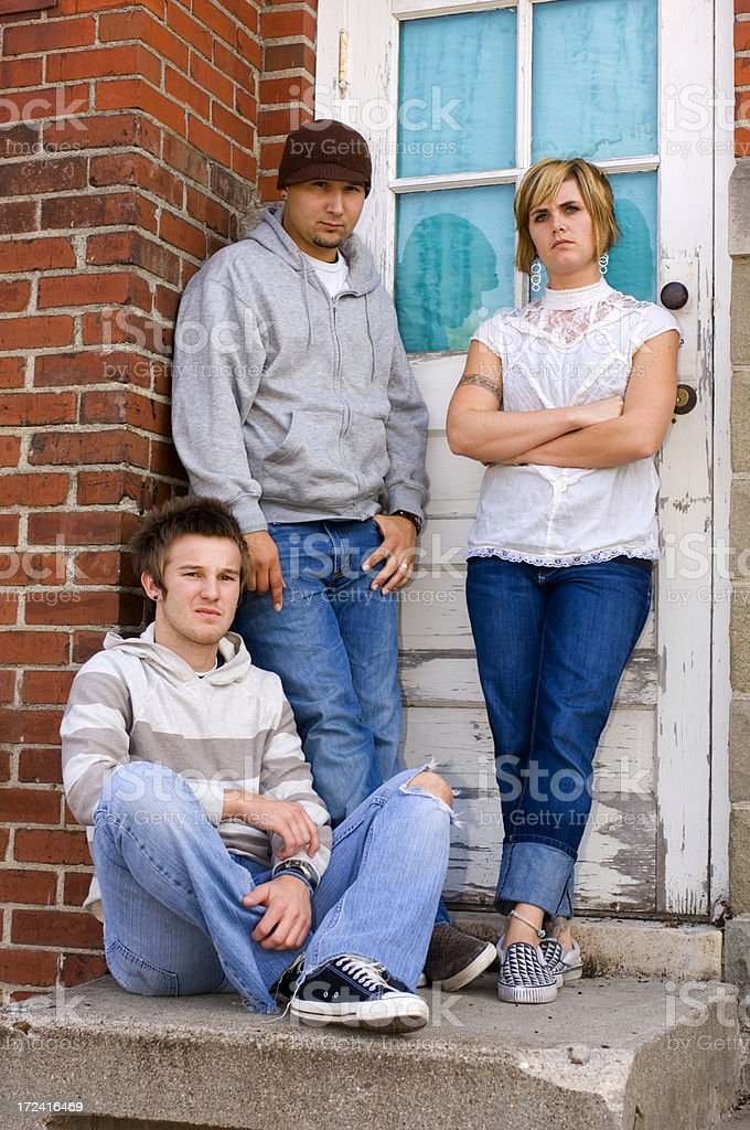 Three Young Adults royalty-free stock photo