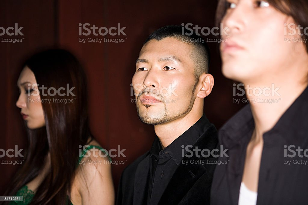 Three young japanese people royalty-free stock photo