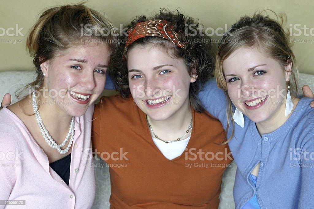 Three Young Ladies stock photo
