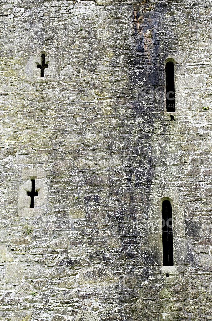 Threecastles Castle Ruins, Co.Wicklow (detail) royalty-free stock photo
