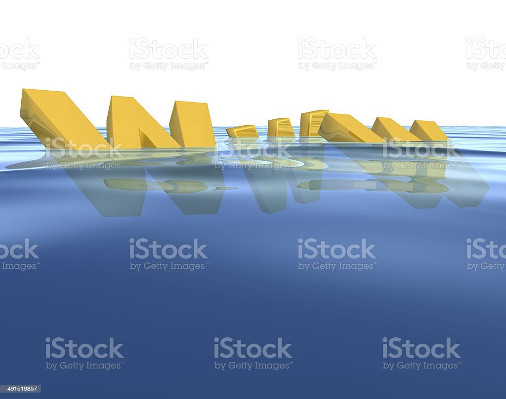 Three-dimensional WWW text royalty-free stock photo