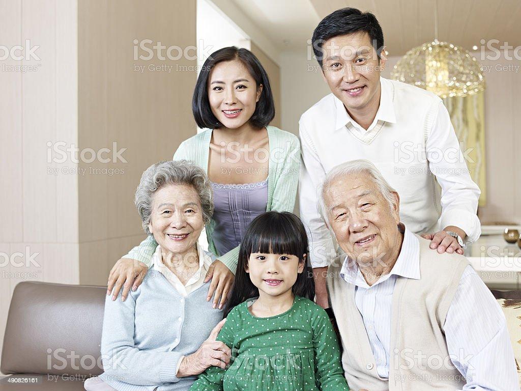 three-generation family royalty-free stock photo