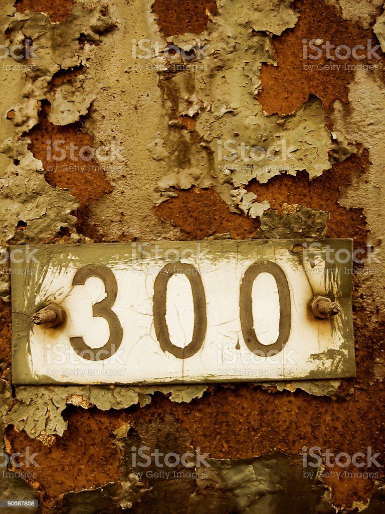 three-hundred sign royalty-free stock photo