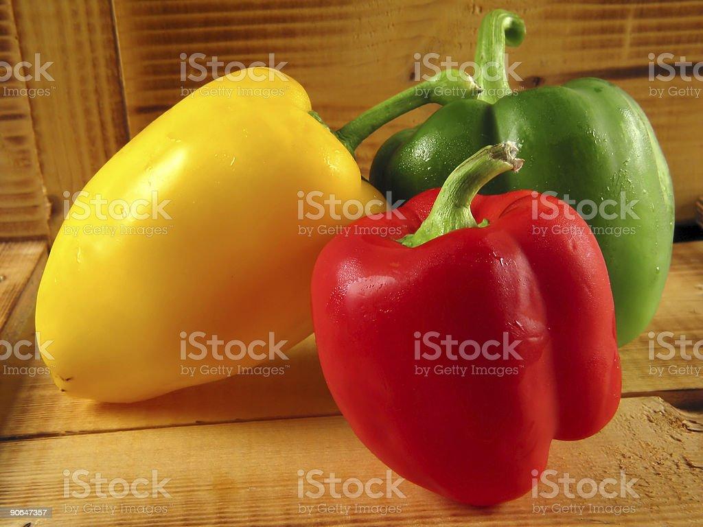 Threesome of paprika royalty-free stock photo