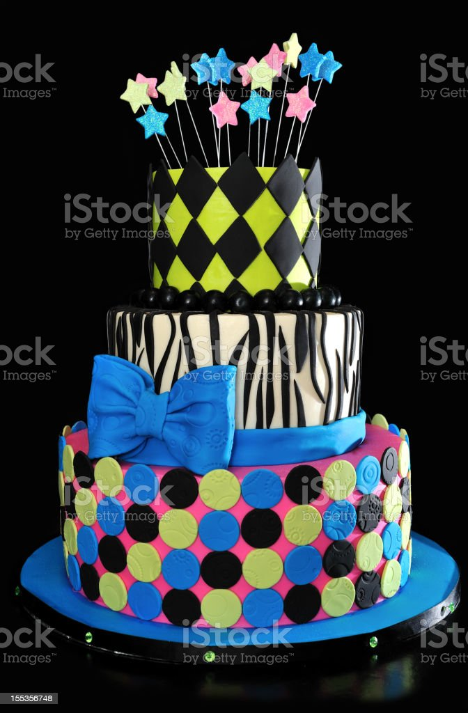 Three-Tiered Cake stock photo