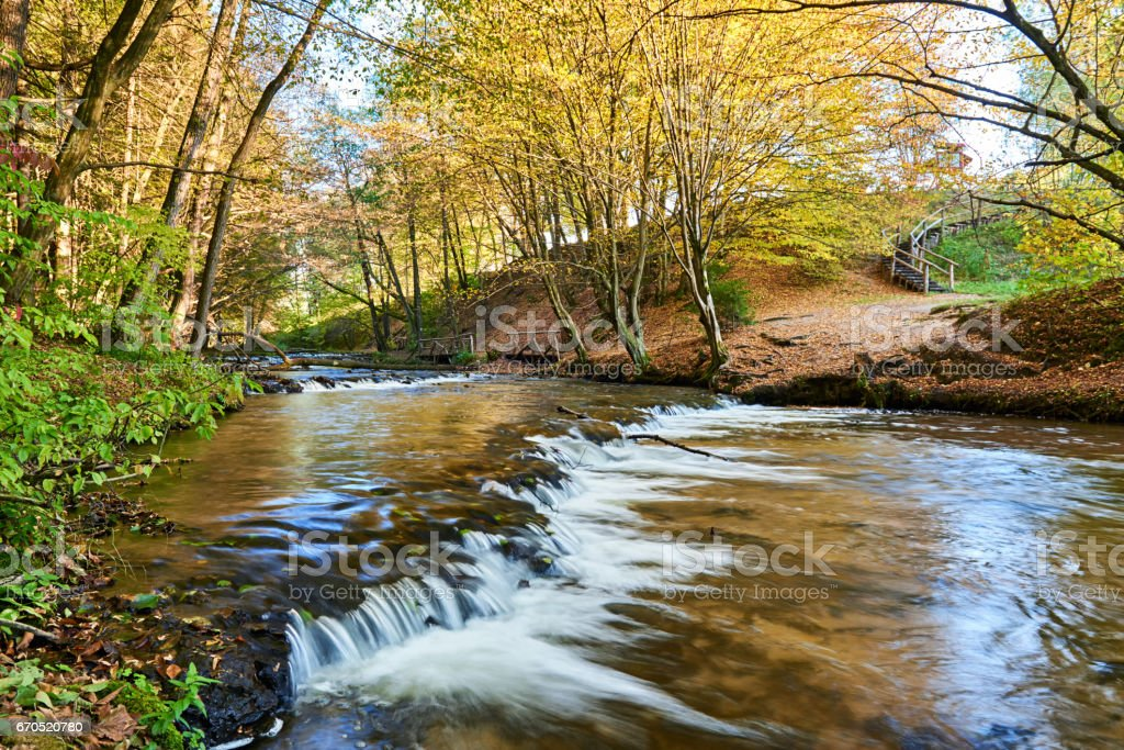 Thresholds rock on the river Tanew on Roztocze stock photo