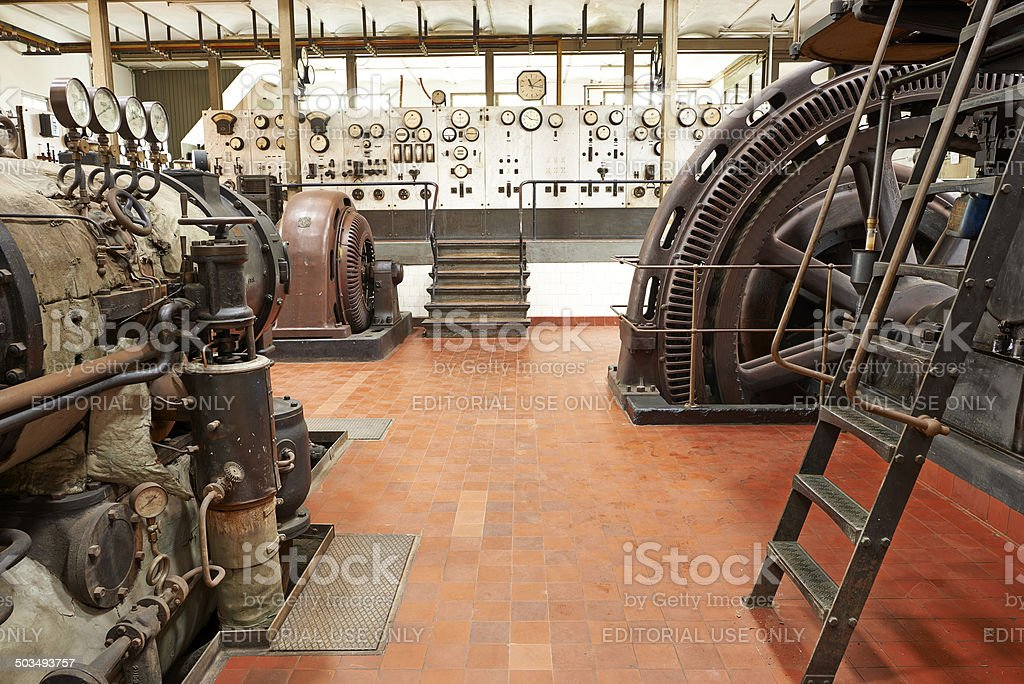 Thriges Kraftcentral is part of Odense city museums stock photo