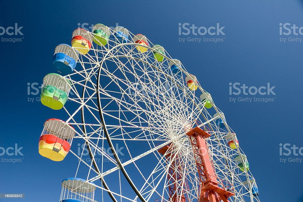 Thrill ride stock photo
