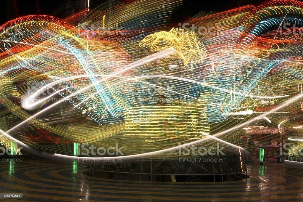Thrill ride royalty-free stock photo