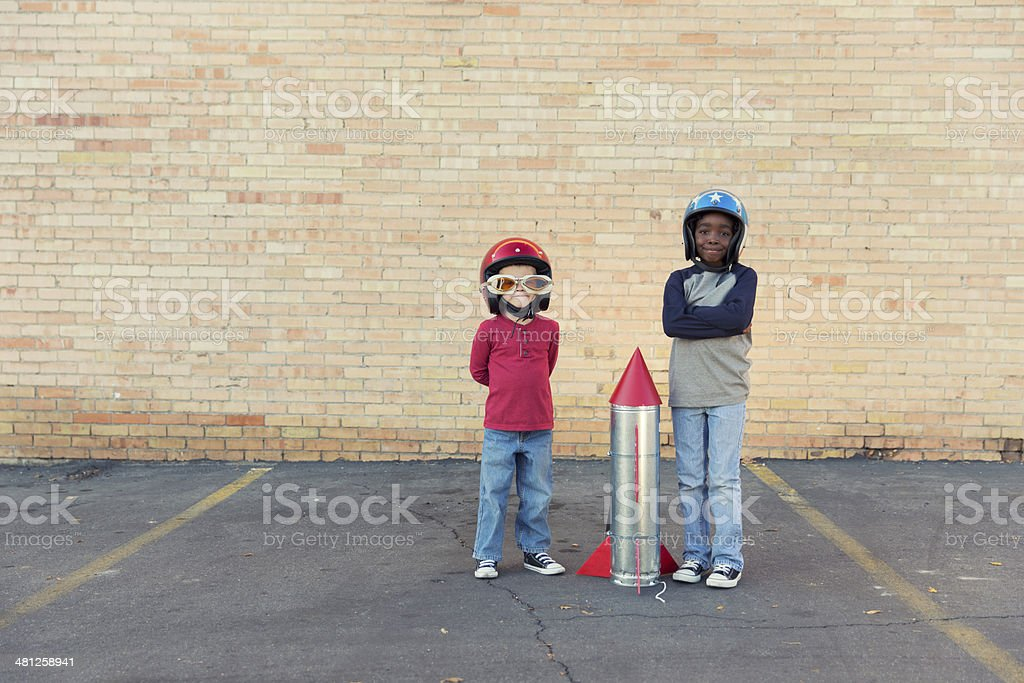 Thrill Seekers stock photo