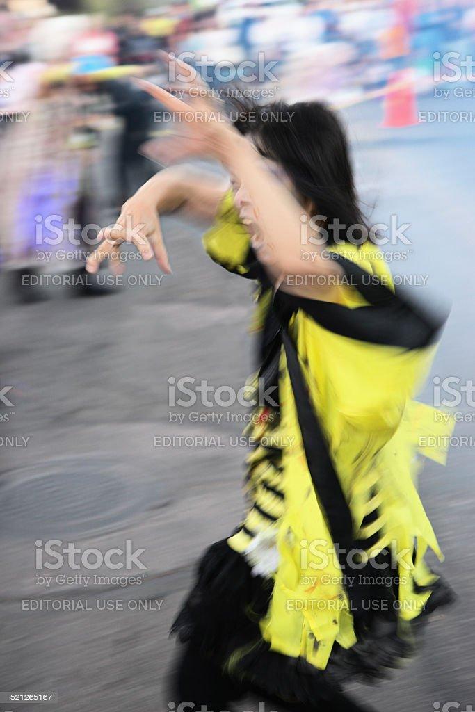 Thriller Zombie Halloween Dance stock photo