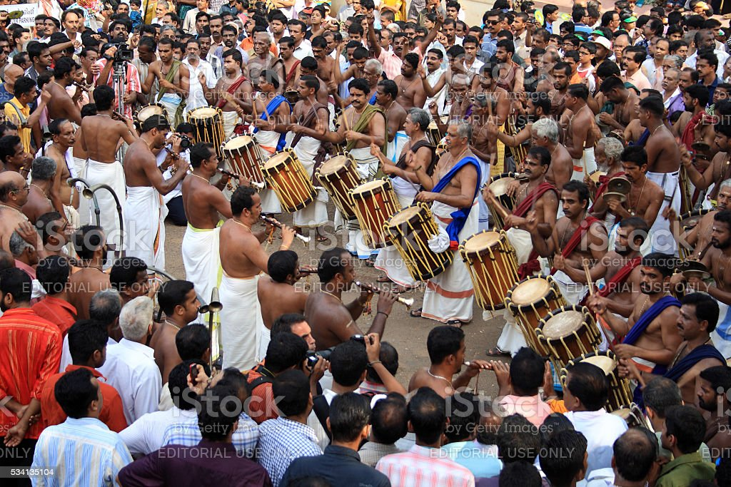Thrissur Pooram stock photo