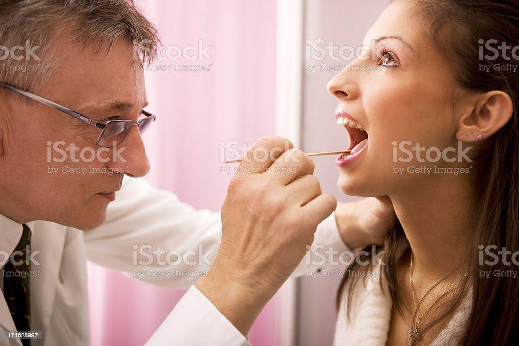 Throat Exam stock photo