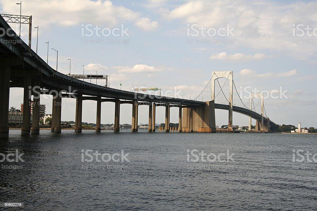 Throgs Neck Bridge - New York stock photo