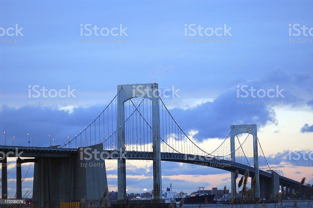 Throgs Neck Bridge royalty-free stock photo