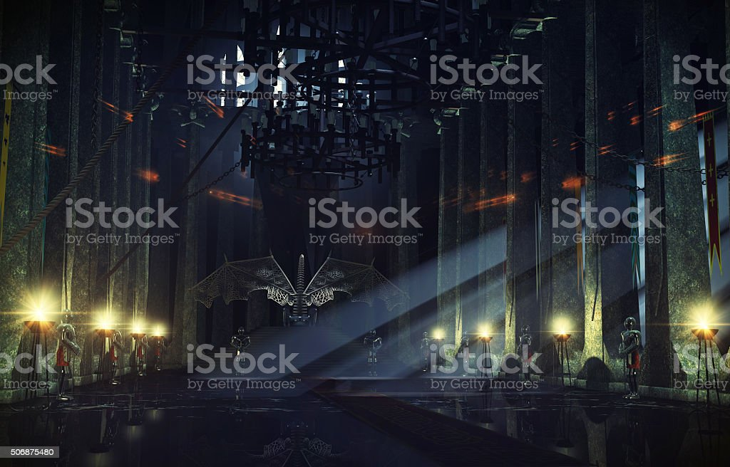 Throne hall stock photo