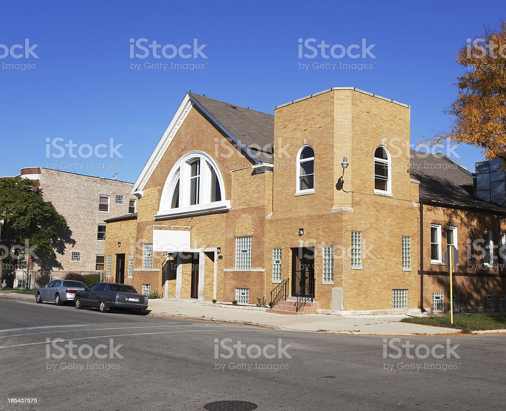 Throne of Grace Church in Grand Boulevard, Chicago stock photo
