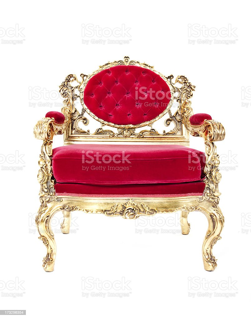 Throne royalty-free stock photo