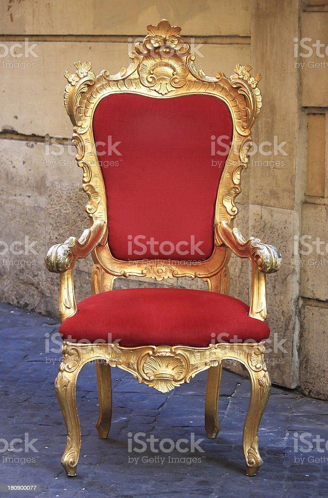 Throne stock photo