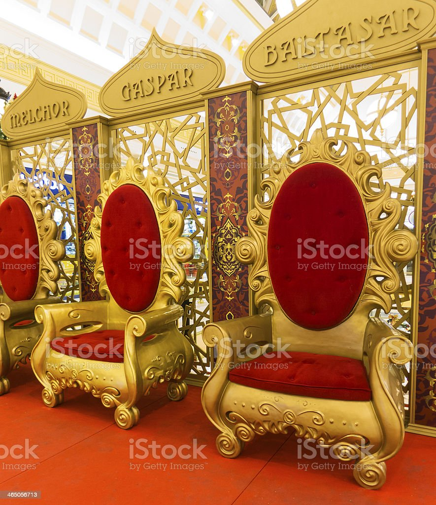 Thrones stock photo