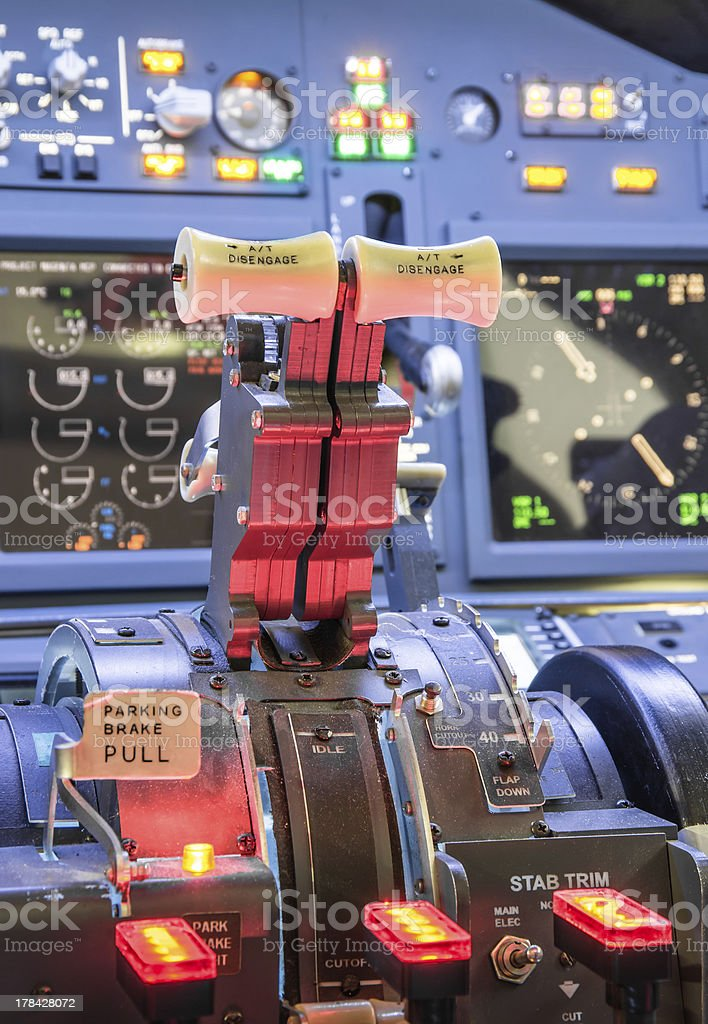 Throttle of a Flight Simulator royalty-free stock photo