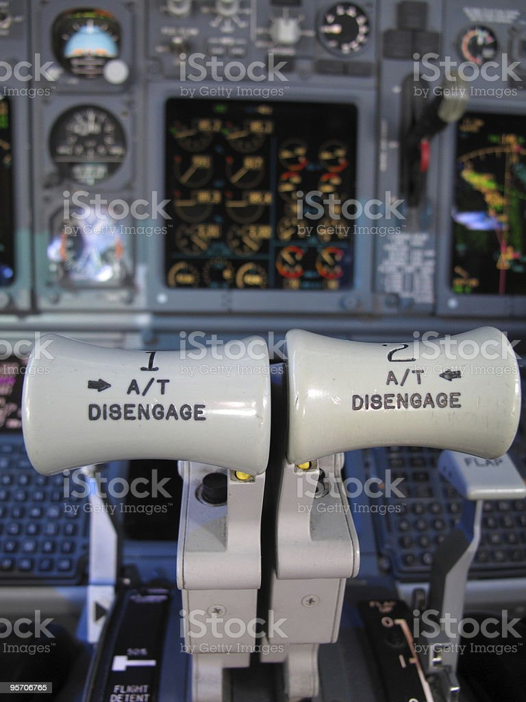 throttles in cruise royalty-free stock photo