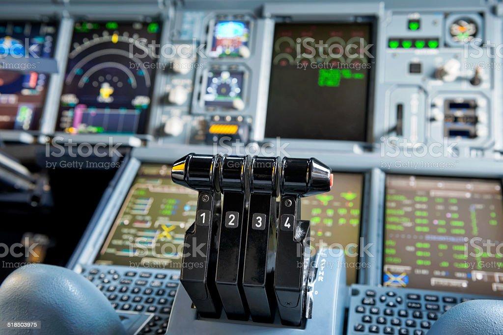 Throttles stock photo