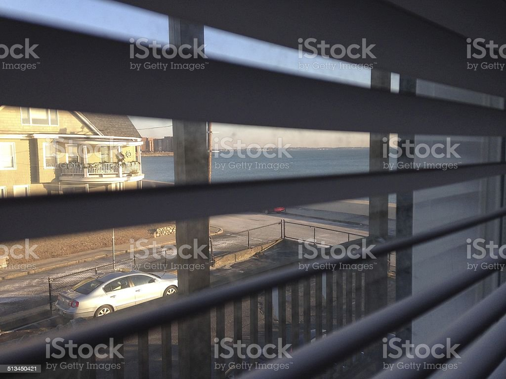 Through Blinds royalty-free stock photo