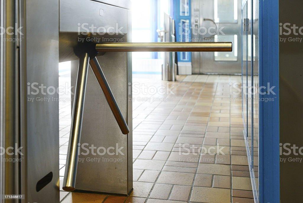 Through subway gates royalty-free stock photo