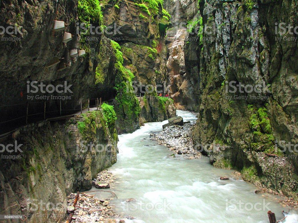Through the Canyon stock photo