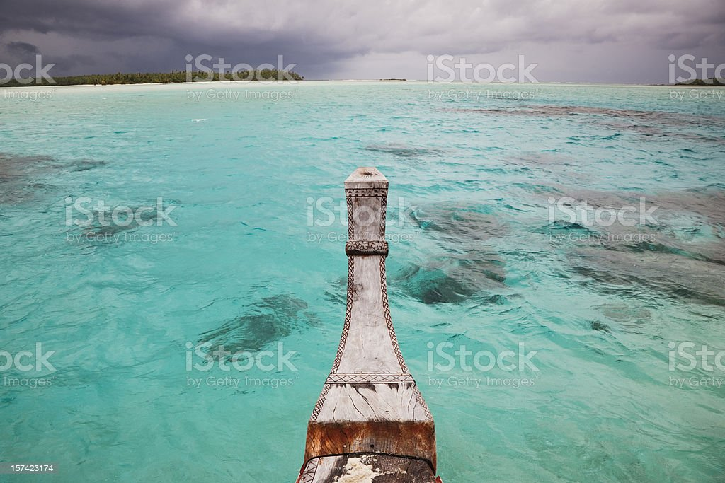 Through the Cook Islands Waters royalty-free stock photo