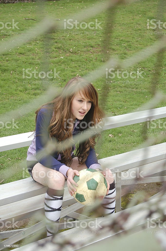 Through the Fence royalty-free stock photo