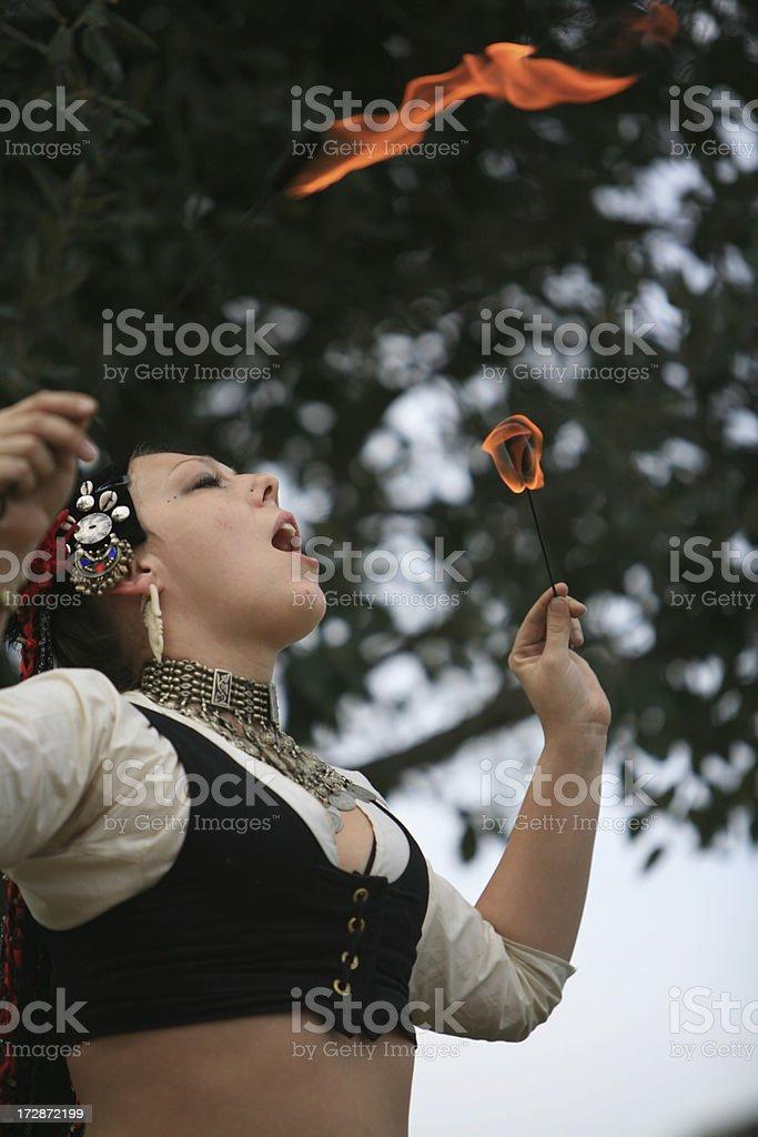 Attraverso il fuoco foto stock royalty-free